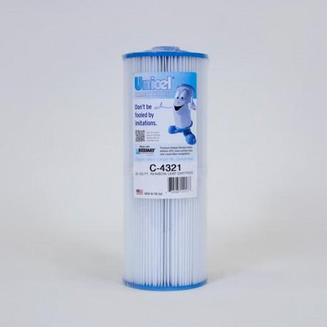 Filtro UNICEL C 4321 compatibile Arcobaleno Foglia Contenitore