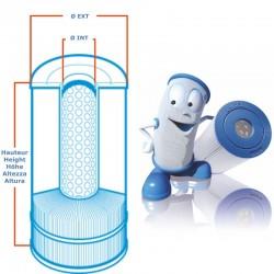 Filtre UNICEL-C-6300 compatible Jacuzzi Whirlpool Bath