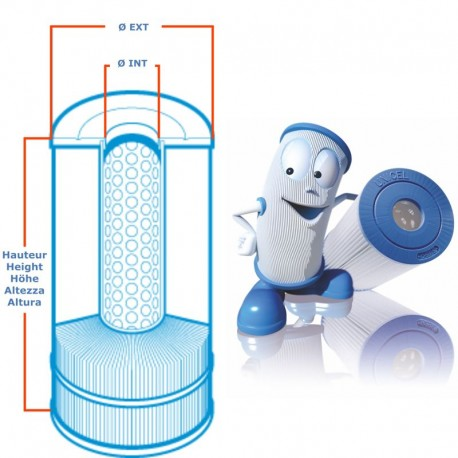 Filter UNICEL C-6300 compatible Whirlpool Jacuzzi Bath