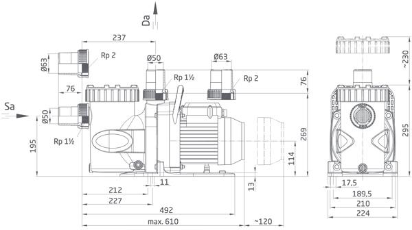 dimensioni della pompa di filtrazione per piscine badu superpro